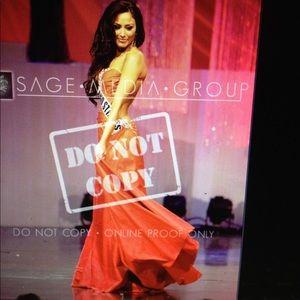 Sherri Hill Dresses - Custom backless Sherri hill pageant gown red